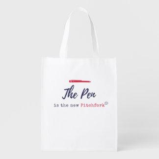 Der STIFT ist die neue Heugabel-wiederverwendbare Wiederverwendbare Einkaufstasche