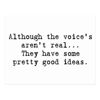 Der Stimme sind nicht wirklich Postkarten