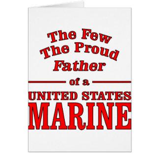 Der stolze Vater eines Staat-Marinesoldaten Karte