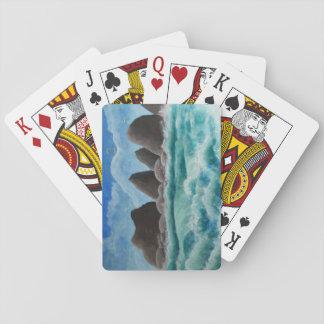 Der Strand am Ozeanufer - Spielkarten