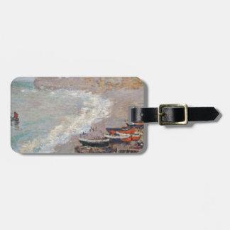 Der Strand bei Etretat - Claude Monet Gepäckanhänger