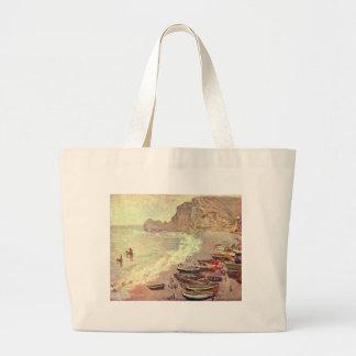 Der Strand bei Etretat - Claude Monet Jumbo Stoffbeutel