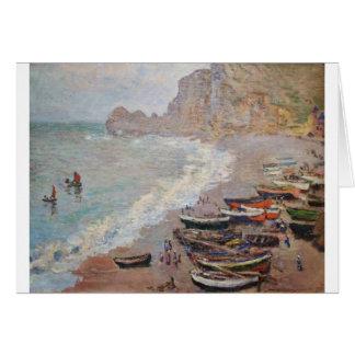 Der Strand bei Etretat - Claude Monet Karte