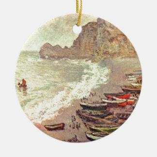 Der Strand bei Etretat - Claude Monet Keramik Ornament