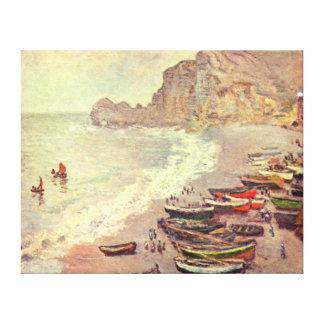Der Strand bei Etretat - Claude Monet Leinwanddruck