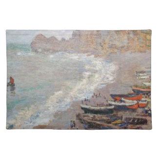 Der Strand bei Etretat - Claude Monet Tischset