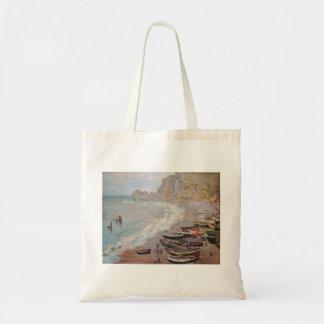Der Strand bei Etretat - Claude Monet Tragetasche