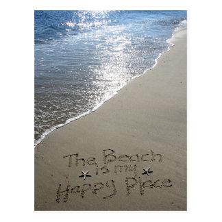 Der Strand ist mein glücklicher Platz Postkarte