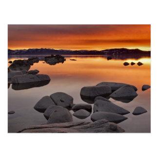Der Strand-Sonnenuntergang des Dollars, Lake Postkarte