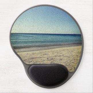 Der Strand - strukturierter Blick Gel Mousepad