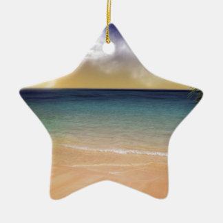 Der Strand von Träumen Keramik Stern-Ornament
