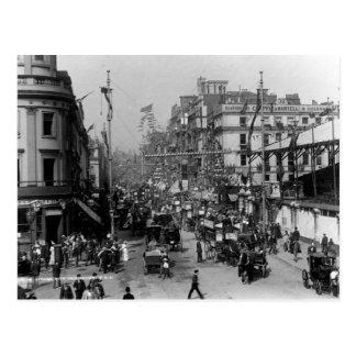 Der Strang London mit Jubiläum-Dekorationen Postkarte