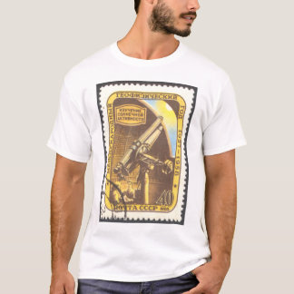 Der Streifen-Astronomie-T - Shirt UDSSR-Briefmarke