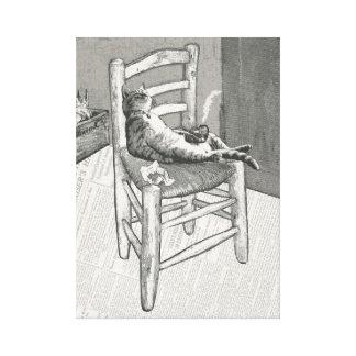Der Stuhl der Katze Leinwanddruck