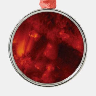 der Sturm der Hitze Rundes Silberfarbenes Ornament