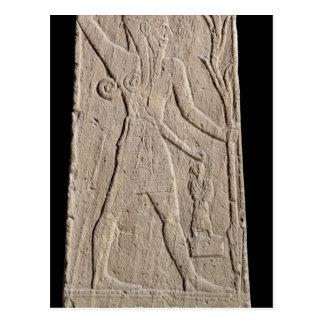 Der Sturmgott Baal mit einem Thunderbolt Postkarte