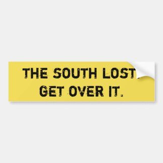 Der Süden verloren. Erhalten Sie über ihm Autoaufkleber