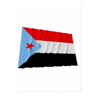 Der SüdJemen, der Flagge (1967-1990, wellenartig Postkarte
