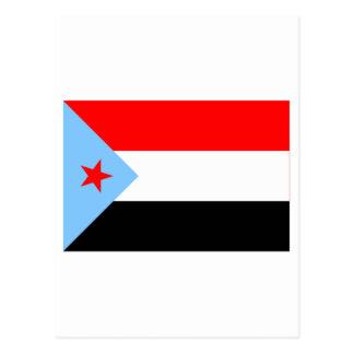 Der SüdJemen-Flagge (1967-1990) Postkarte