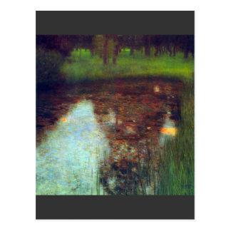 Der Sumpf durch Gustav Klimt Postkarte