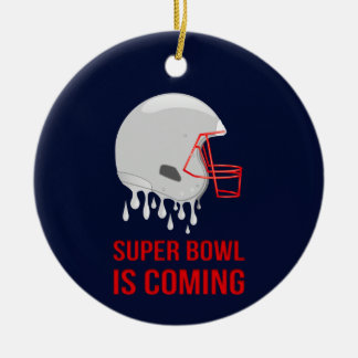Der Super Bowl-Count-down Keramik Ornament