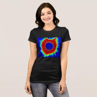 Der T - Shirt 2017 Eklipse-Frauen, Neon-Reihen