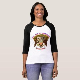 Der T - Shirt-Amerikaner-Adler der Eklipse-Frauen T-Shirt