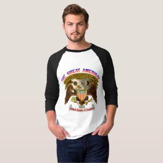 Der T - Shirt-Amerikaner-Adler der Eklipse-Männer T-Shirt