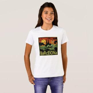 Der T - Shirt Barcelona-Mädchens