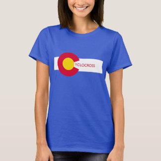 Der T - Shirt Colorado-Flagge Cyclocross Frauen