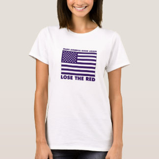 Der T - Shirt der blaue Flaggen-Frau