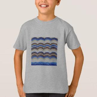 Der T - Shirt der blaue Mosaik-Kinder