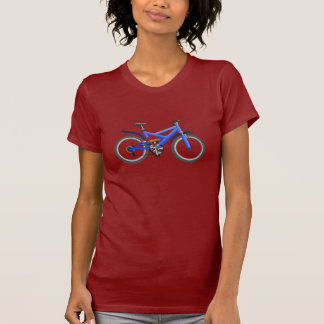 Der T - Shirt der blauen Fahrrad-Frauen