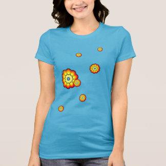 Der T - Shirt der Blumen-Kinderfrau