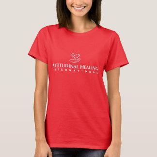 Der T - Shirt der Frauen - großes weißes Logo