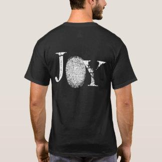 Der T - Shirt der Freude-Fingerabdruck-grafischen