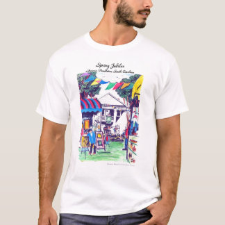 Der T - Shirt der Frühlings-Jubiläum-Männer in der