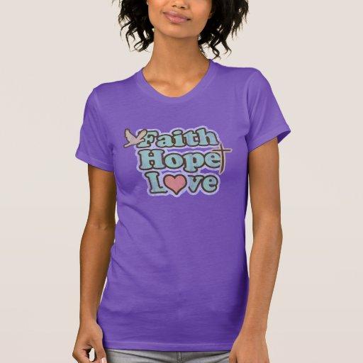 Der T - Shirt der Glauben-Hoffnungs-Liebe-Frauen
