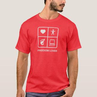 Der T - Shirt der GNOME Freiheits-Liebhaber-Männer