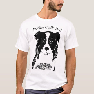 Der T - Shirt der Grenzcollie-Vati-Männer
