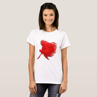 Der T - Shirt der großen roten Betta Splendens
