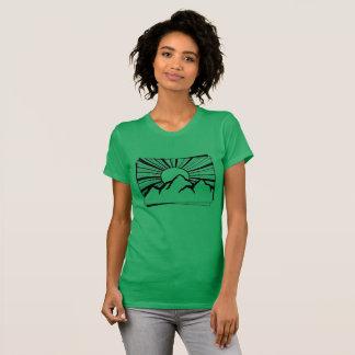 Der T - Shirt der grünen Gebirgslogo-Frauen Rodney