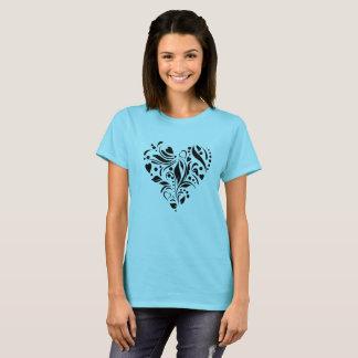 Der T - Shirt der Herz-Liebe-Frauen