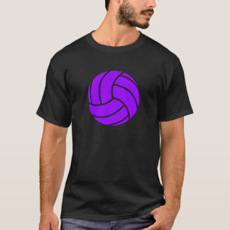 Der T - Shirt der lila und schwarzen