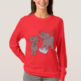 """der T - Shirt der lustigen Elefant""""Karton"""" Frauen"""