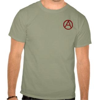 Der T - Shirt der Männer des Anarchiesymbols (klei