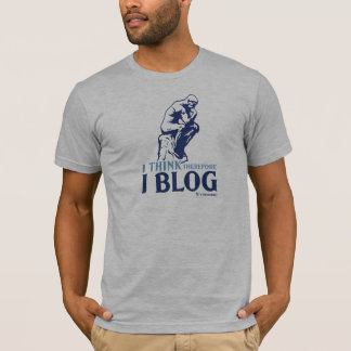 Der T - Shirt der Männer (ich denke, deshalb Blog