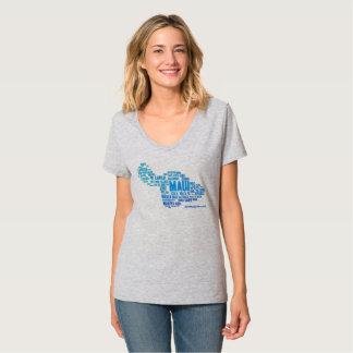Der T - Shirt der Maui-Wort-Wolken-Frauen