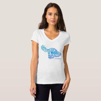Der T - Shirt der Maui-Wort-Wolken-Frauen (weiß)