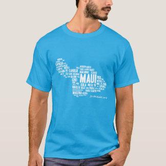 Der T - Shirt der Maui-Wort-Wolken-Männer